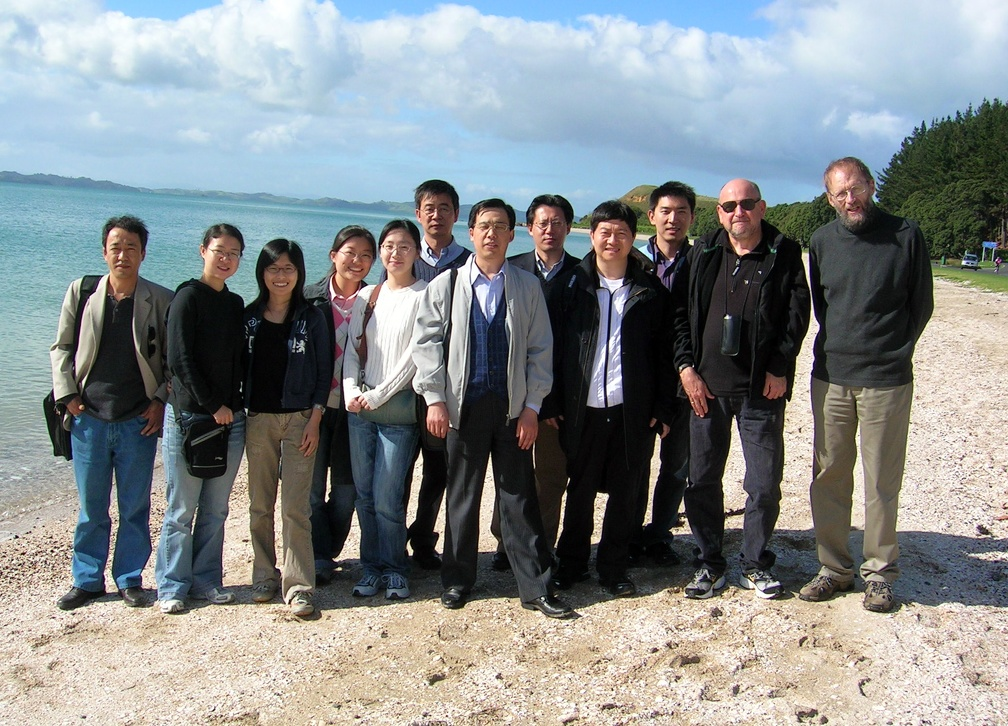 Visitors and students from Beijing Foreign Studies University with Nick Perry and Laurence Simmons.