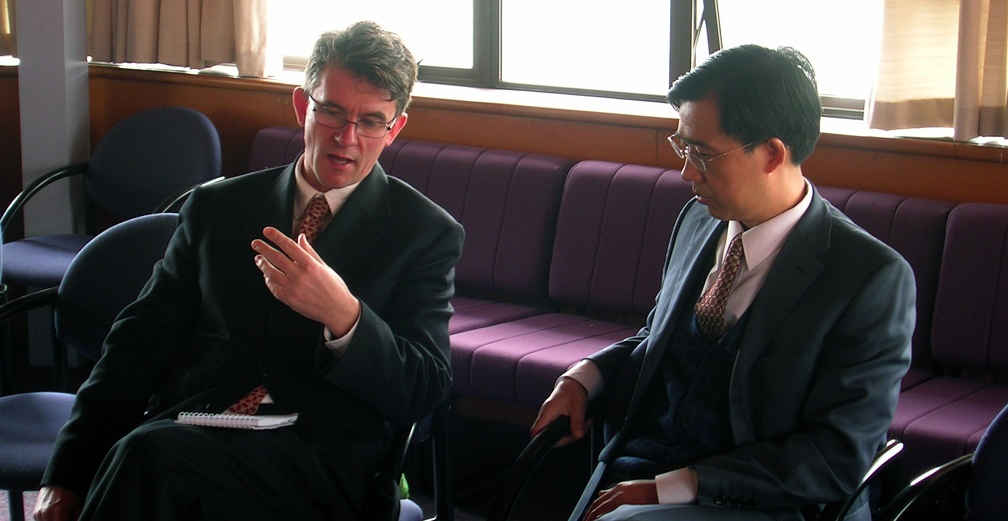 Professor Duncan Petrie and Professor Sun Youzhong