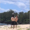 Andy and John Juggling on the beach at GSI