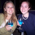 Ann and jessica with blue lagoons