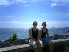 On the sea wall in Nuku alofa