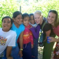 Beth and Katie having fun with Tongan kids