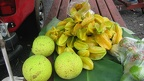 Bread fruit and starfruit at the market