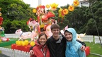 Emily Tom and Cara at Chinese Lantern Festival