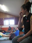 Bianca telling us about the marae